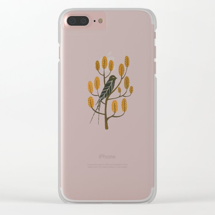 Swallow - golden brown Clear iPhone Case