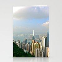hong kong Stationery Cards featuring Hong Kong by Madison Genevieve