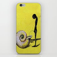 pee wee iPhone & iPod Skins featuring pee by sewec