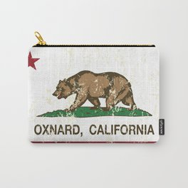 Oxnard California Republic Flag Distressed Carry-All Pouch