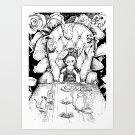 Mad artist tea party Art Print