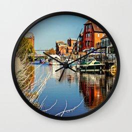 At the riverside. Wall Clock