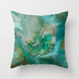 Dawning of a Galactic Planet Throw Pillow