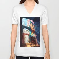 dungeons and dragons V-neck T-shirts featuring Dragons by youcoucou