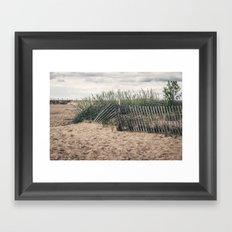A Beach Day Framed Art Print