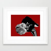 alpaca Framed Art Prints featuring Alpaca by caseysplace