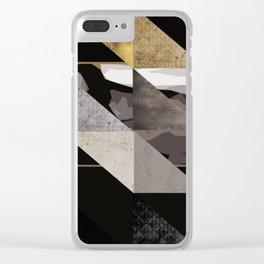 u2's the joshua tree triangles Clear iPhone Case