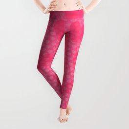 Pink Designer Princess Heart Leggings