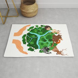 Climate Change Save The Planet Rug