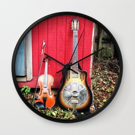 Resonator And Fiddle Wall Clock