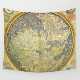 The Fra Mauro World Map Circa 1450 Wall Tapestry