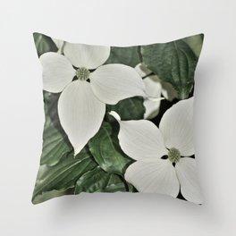 Cornus kousa Throw Pillow