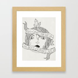 No One Saves Us Framed Art Print