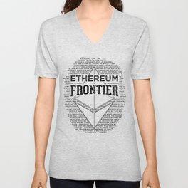 Ethereum Frontier (black on orange) Unisex V-Neck