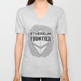 Ethereum Frontier (black on orange) Unisex V-Neck