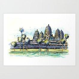 Angkor Wat, Cambodia Art Print