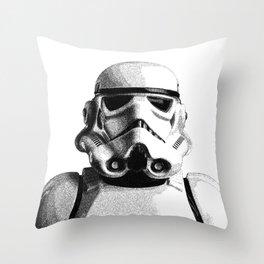 Stormtrooper Dotwork - Pointillism Fan Artwork Throw Pillow
