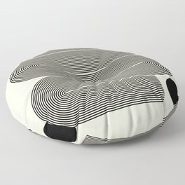 Abstraction_LINE_BLACK_DOT_VISUAL_ART_Minimlism_001A Floor Pillow