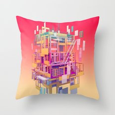Building Clouds Throw Pillow