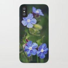 Blue Flowers iPhone X Slim Case