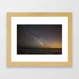 Milkyway at Pebble Beach Framed Art Print