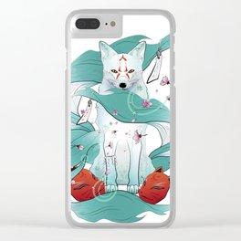 Frozen Kitsune Clear iPhone Case