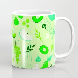 Green Fresh Fruits Coffee Mug