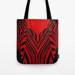 Art print: Red zebra pop art Tote Bag
