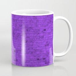 Bright Neon Purple Brick Wall Coffee Mug