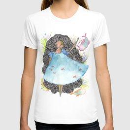 Girl and fish T-shirt