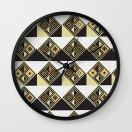 African Tribal Pattern No. 89 Wall Clock