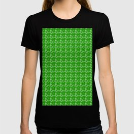Green Christmas Wrapping Paper Pattern T-shirt