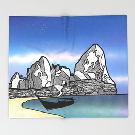 Tropical Beach Thailand Throw Blanket