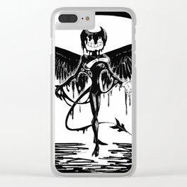 Bendy, the fallen angel Clear iPhone Case