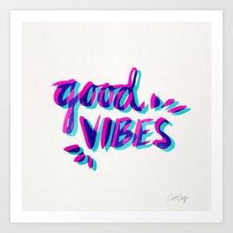 Good Vibes – Magenta & Cyan Kunstdrucke