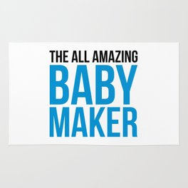 Amazing Baby Maker Funny Quote Rug