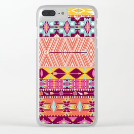 Aztec geometric seamless pattern Clear iPhone Case