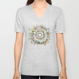 Circle of life- floral Unisex V-Neck