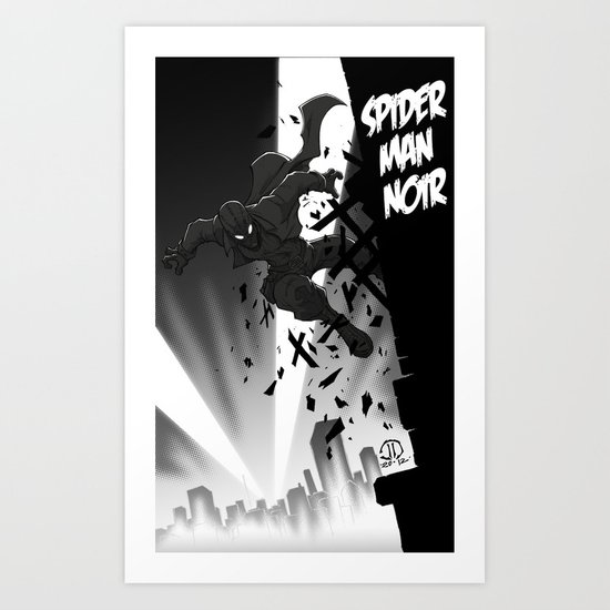 Spiderman Noir Art Print