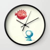 balloon Wall Clocks featuring Balloon by Freeminds