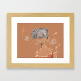 Koi Woman Framed Art Print