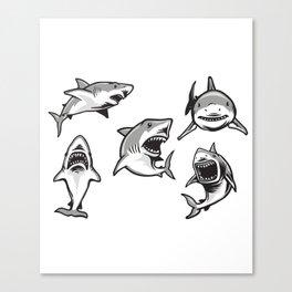 Angry Sharks Canvas Print