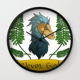 clever girl in blue Wall Clock