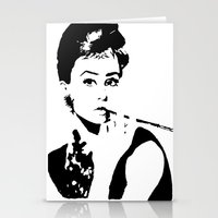 hepburn Stationery Cards featuring Hepburn by annelise h