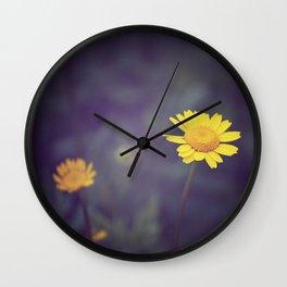 Miss Yellow Daisy Wall Clock