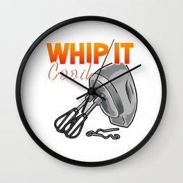 Funny Whip It Good Mixing Pun Cooking Mixer Wall Clock