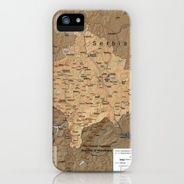 Map Of Kosovo 1999 iPhone Case