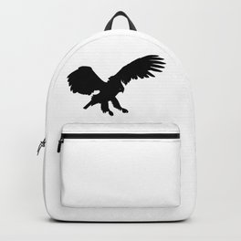 Eagle Black Silhouette Pet Animal Cool Style Backpack