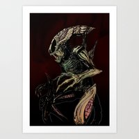 xenomorph Art Prints featuring Alien (xenomorph) by Woorinara Kim