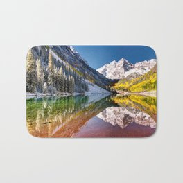 OLena Art Maroon Bells And Maroon Lake Near Aspen Colordo Bath Mat